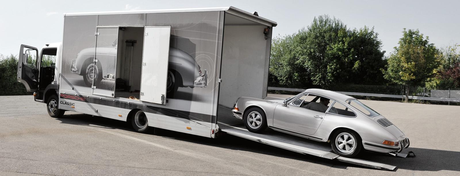 Exklusiver Hol- und Bringservice für Ihren Porsche Klassiker.
